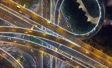 航拍中国城市交通广州城市交通