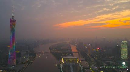 航拍广州景色