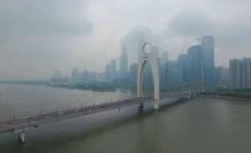 超高清航拍广州雨后的云海
