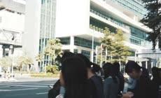 广州城市街景忙碌的人
