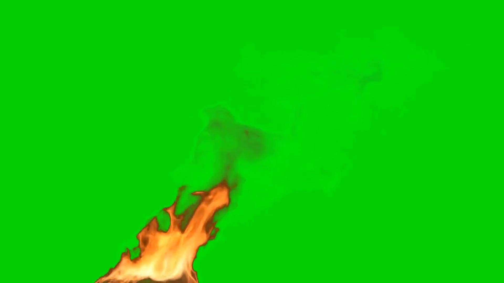 绿屏抠像燃烧的火焰