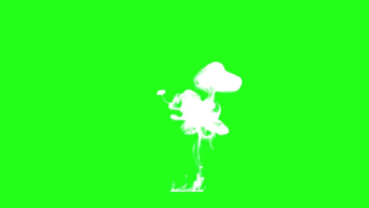 绿屏抠像白色烟雾烟圈