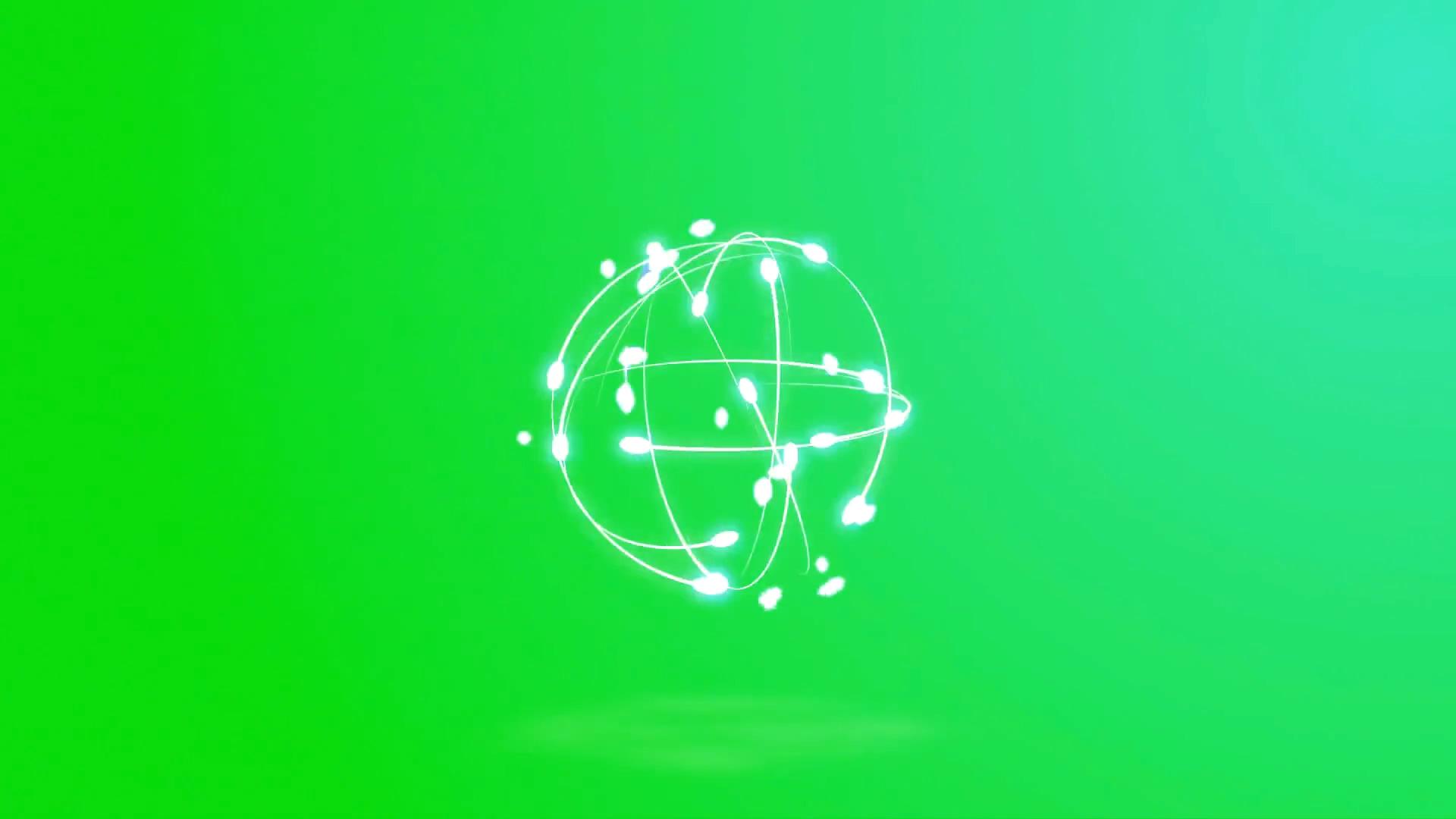 绿屏抠像交汇旋转粒子光球