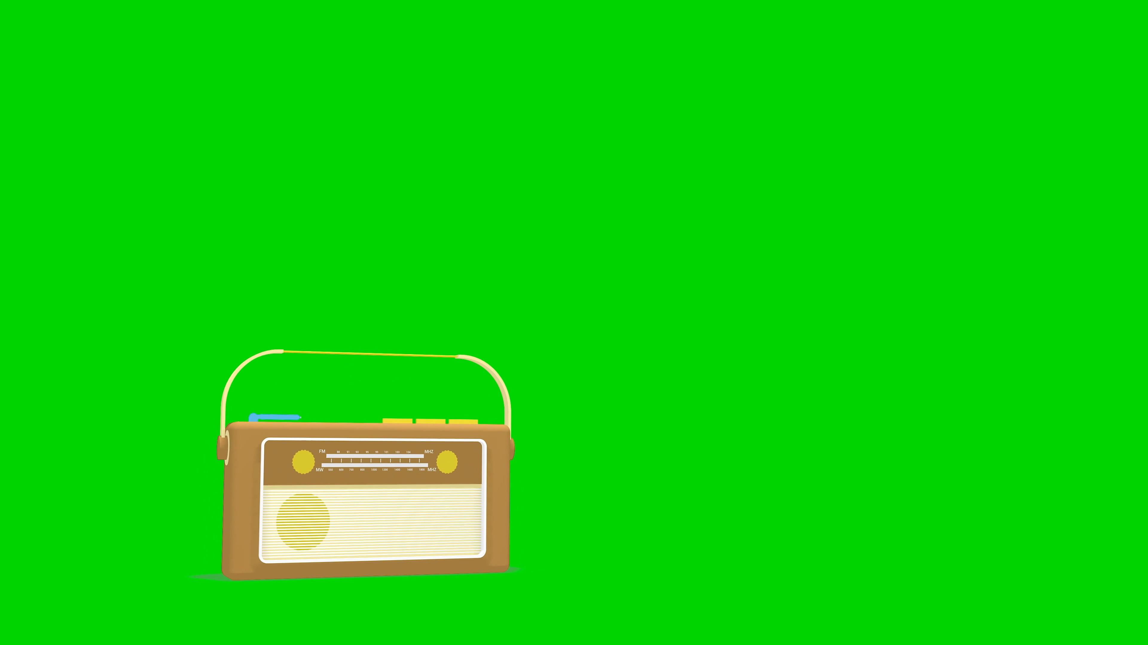 \[4K\]绿屏抠像卡通收音机