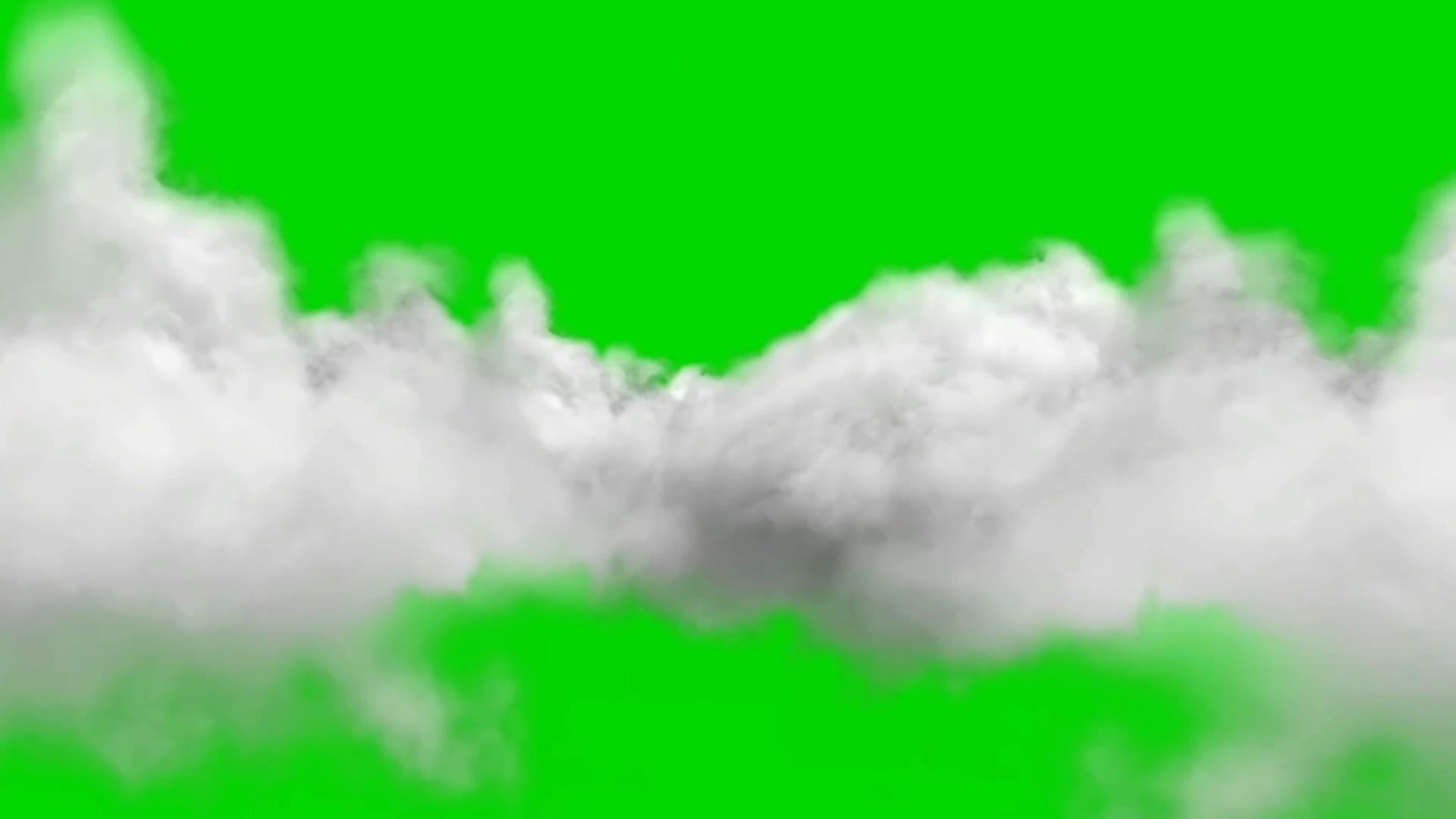 绿屏抠像白云中穿梭