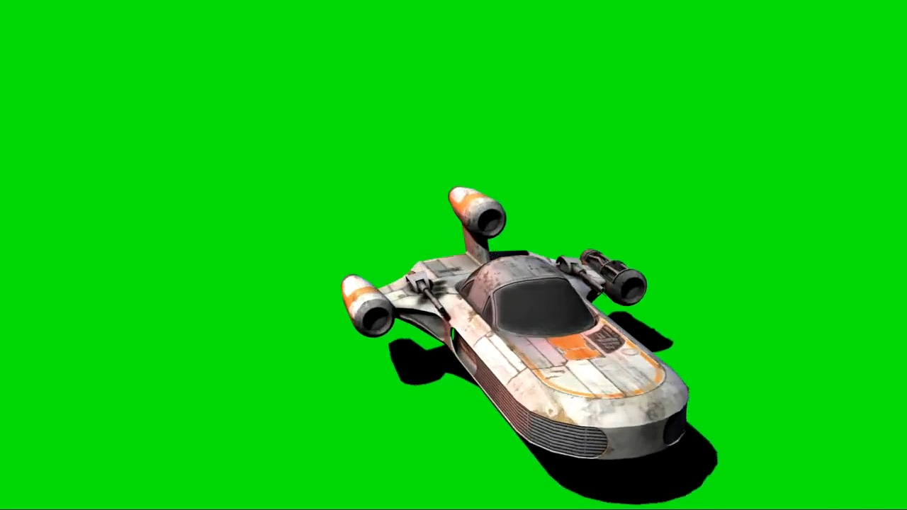 绿屏抠像悬浮汽车