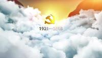 七一大气政党回顾图文展示AE模板