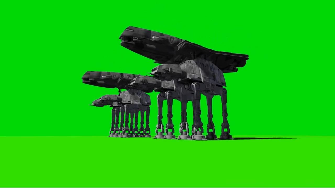 绿屏抠像太空巡洋舰