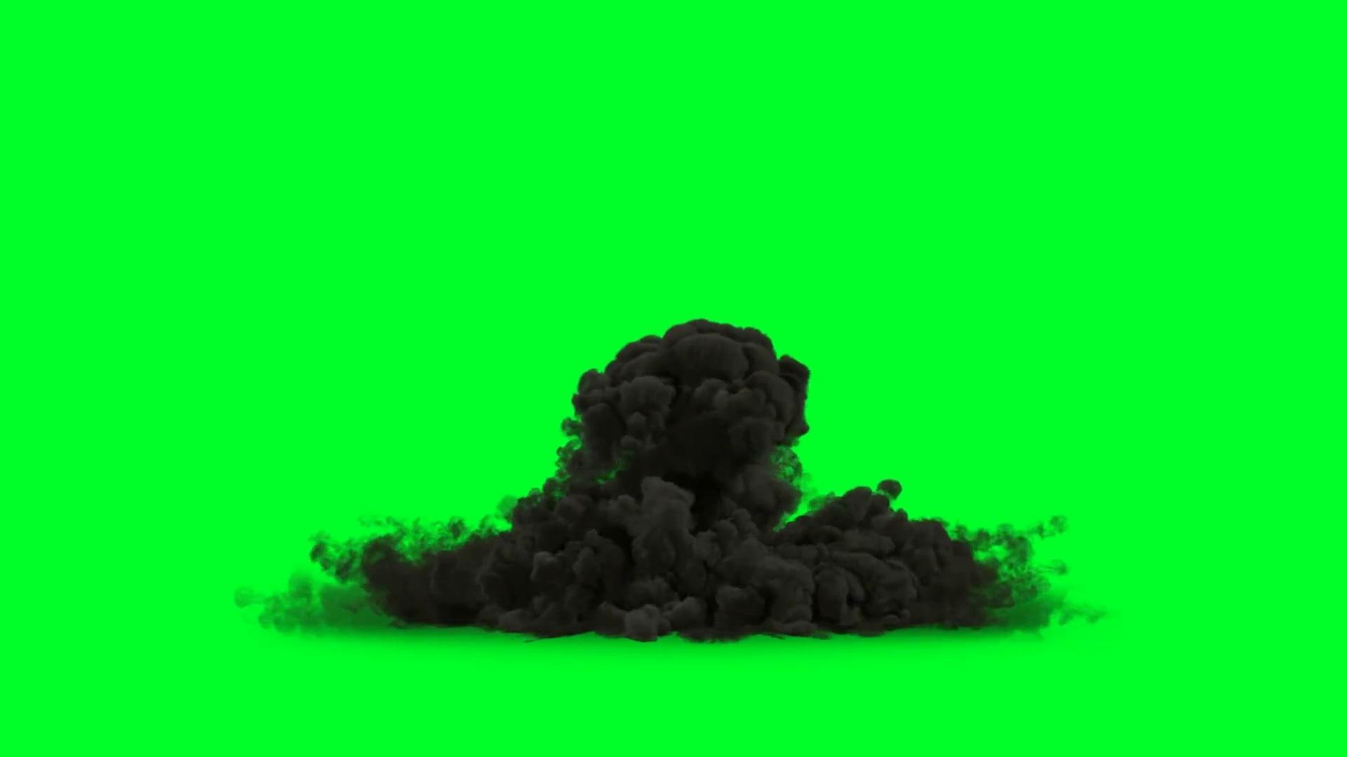 绿屏抠像各种爆炸烟雾