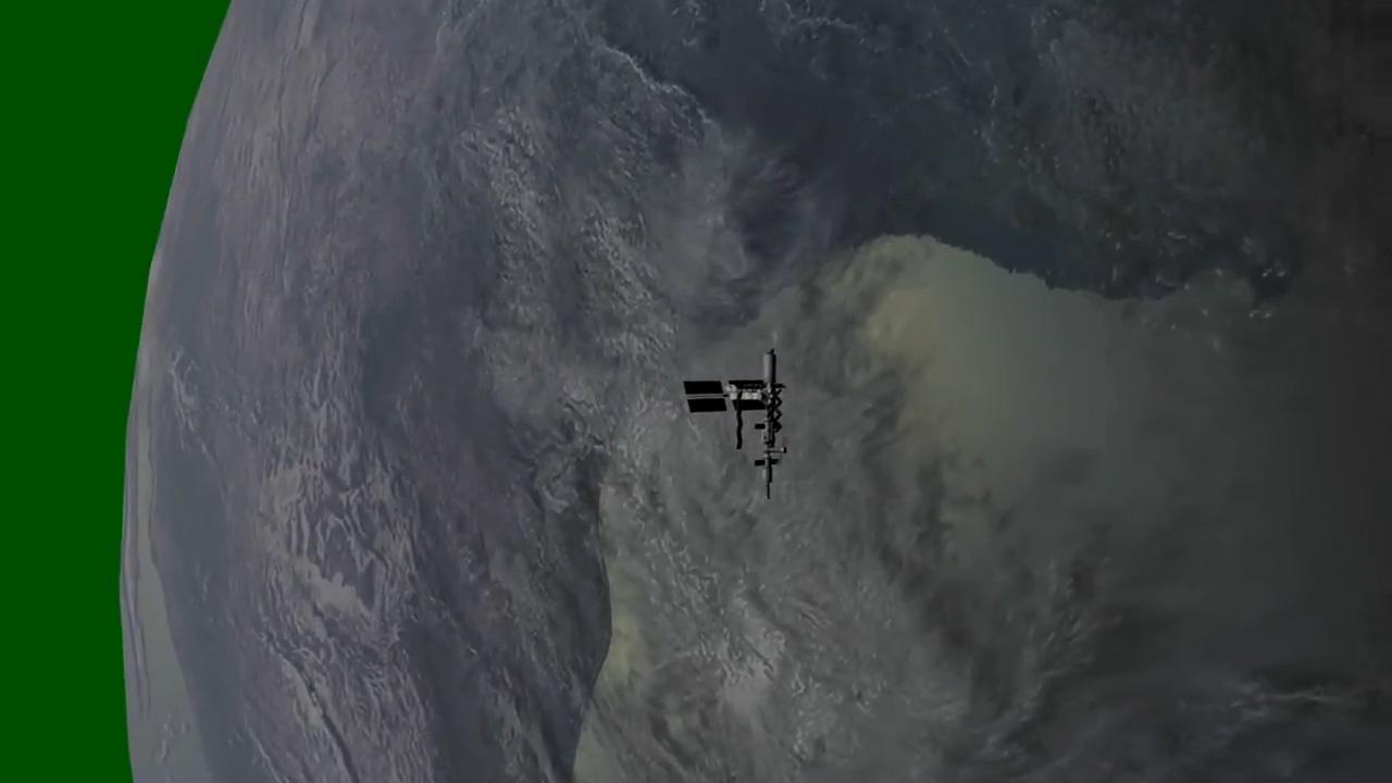 绿屏抠像太空中的卫星