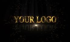 金色粒子企业宣传片头LOGO演绎AE模板\(CC2017\)