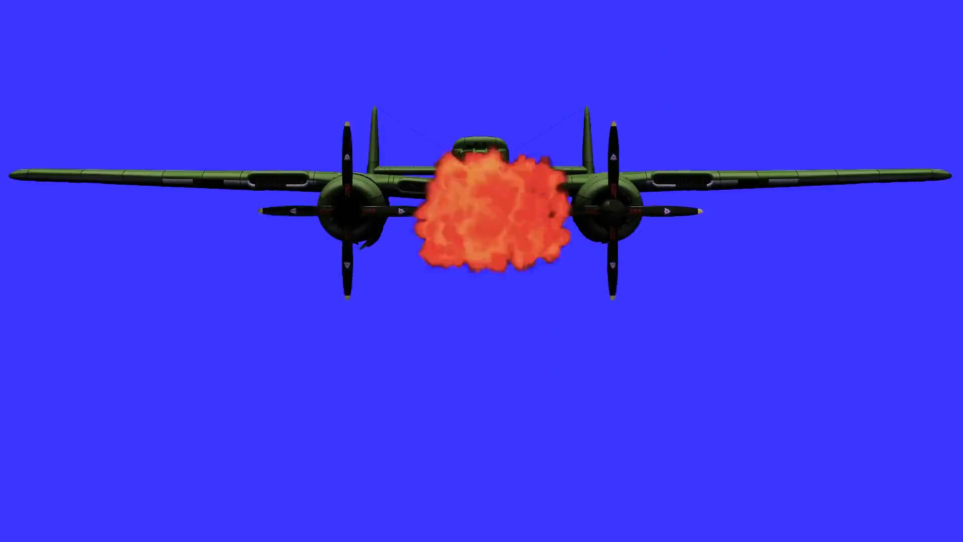 蓝屏扣像爆炸的飞机