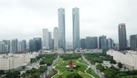 江西南昌城市商务区高清实拍视频素材