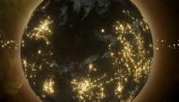 星球3D宇宙科普\-陨石撞击地球\-星球彩云