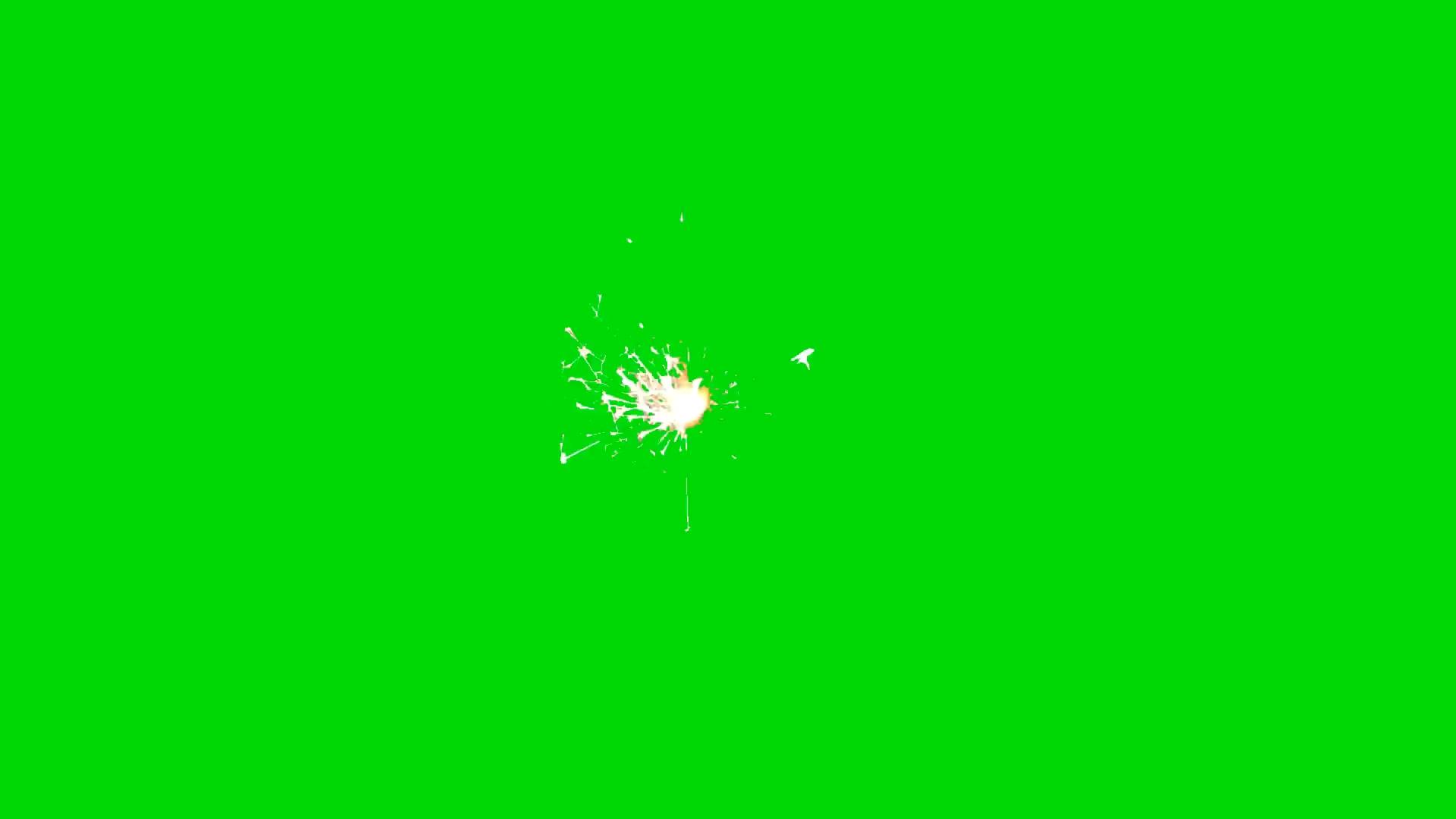 绿屏抠像烟花火光