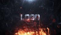 震撼大气火焰文字logo演绎AE模板\(CC2017\)