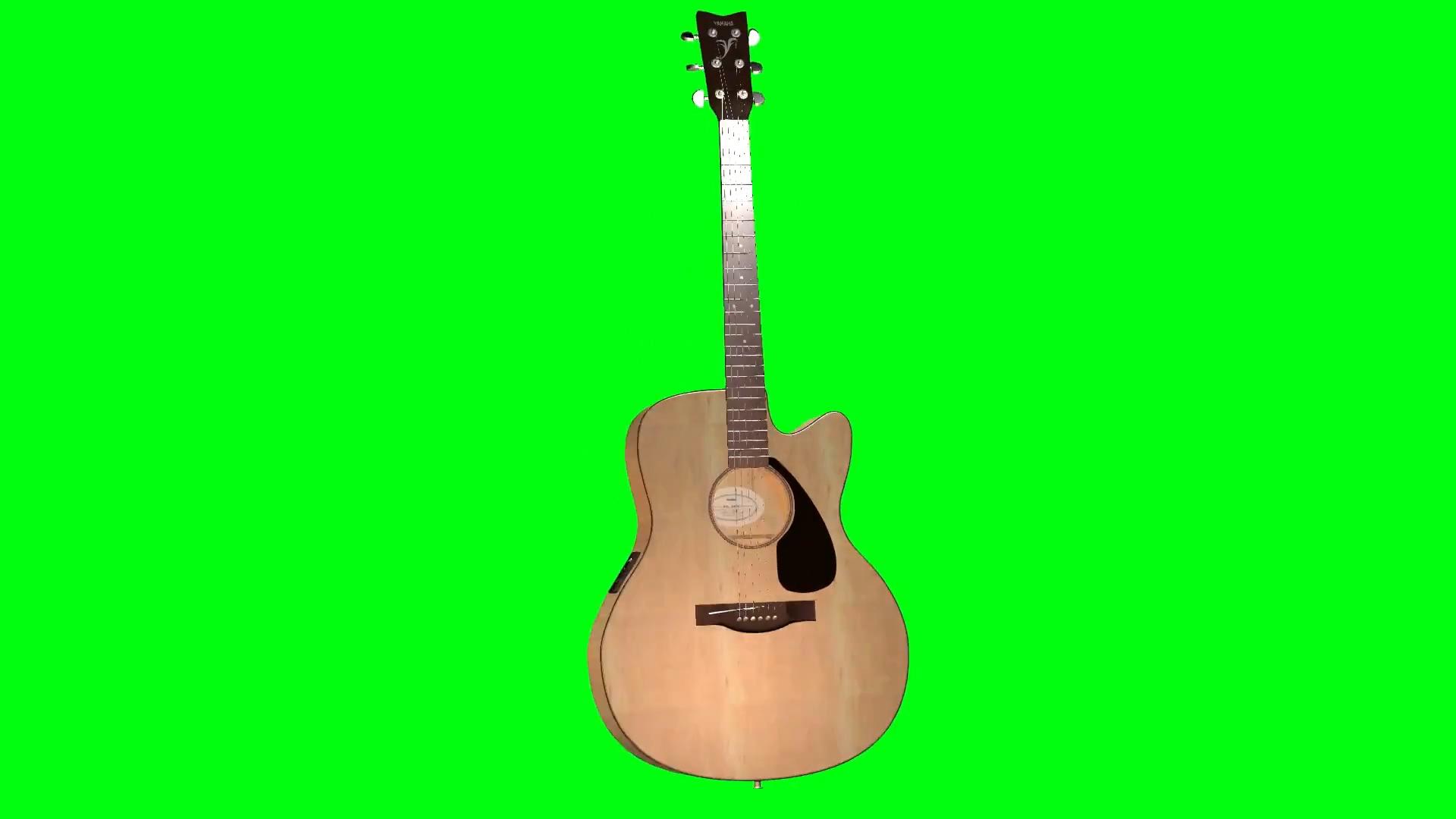 绿屏抠像电动吉它