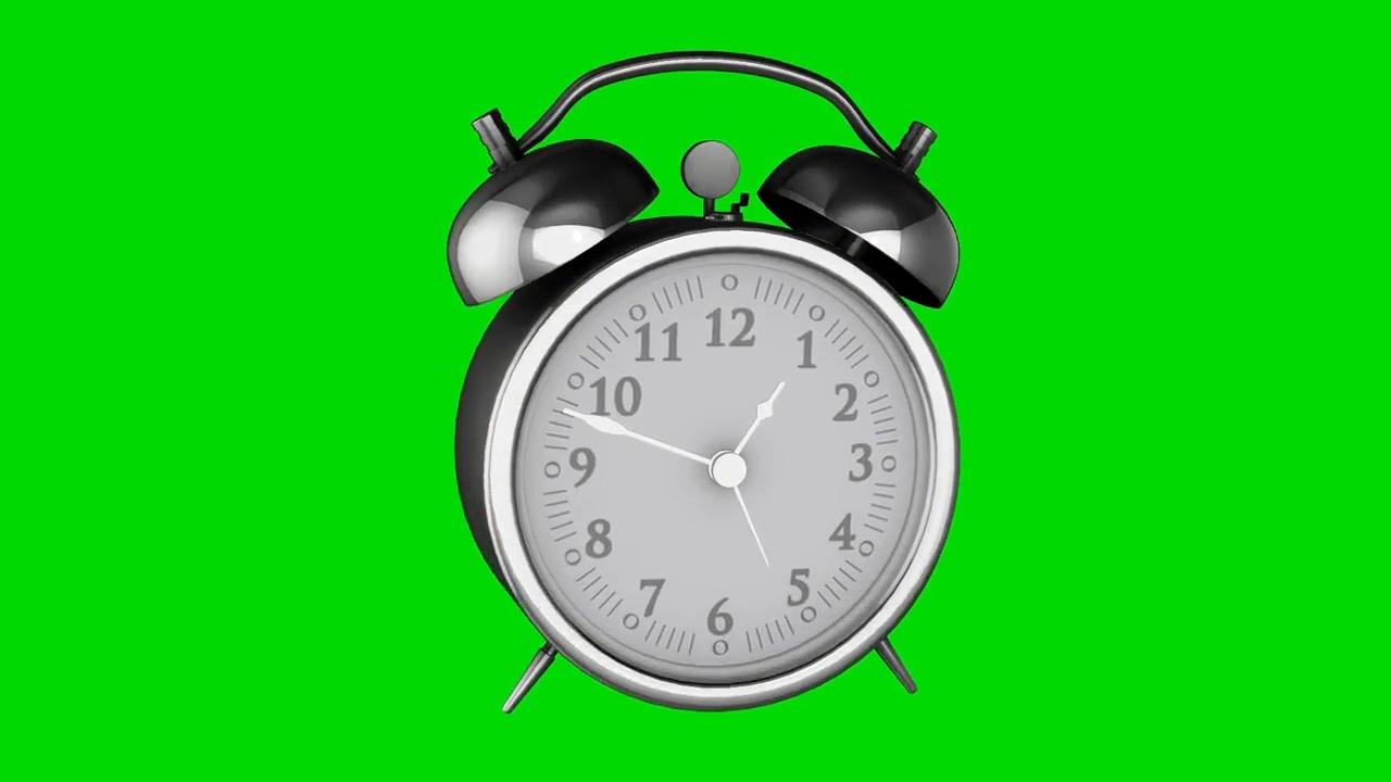 绿屏抠像银色闹钟