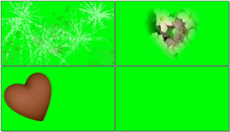 绿屏抠像各种红色爱心