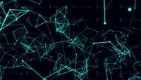 循环抽象线和多边形动画未来的技术背景