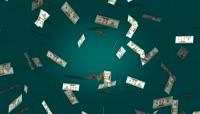 纸币洒落商业视频背景