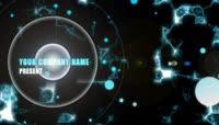 蓝色光晕星光粒子logo展示AE模板
